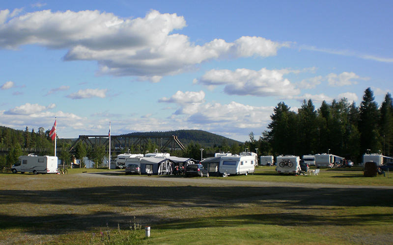 Campeerplaatsen in Lapland, Zweden